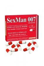 Aphrodisiaque SexMan 007 - 10 gélules : 10 Gélules aphrodisiaques pour hommes, pour booster la virilité et les performances sexuelles.