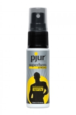 Spray retardant Pjur Superhero Strong performance : Spray retardant l'éjaculation simple à utiliser et efficace, conçu pour prolonger le plaisir masculin.