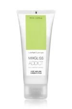 Mixgliss eau - Addict Vert agrume 70ml : Lubrifiant intime au parfum délicat et enivrant. Attention: ce gel est extrêmement sensuel!