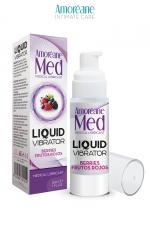 Lubrifiant Liquid Vibrator Baies Rouges 30ml - Amoreane Med