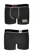 Boxer J&M en coton - Noir 1