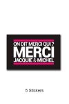 Pack 5 stickers J&M n°4