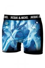 Boxer J&M Rayon X : Boxer Jacquie & Michel humoristique en microfibre représentant une image aux rayons X, prise au moment opportun.
