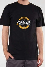 T-shirt J&M n°3 (taille S XL 3XL) : Le Teeshirt exclusif (visuel 3) à l'effigie de  Jacquie & Michel, votre site amateur préféré.
