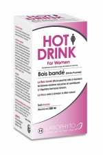 HOT DRINK Femme bois bandé 250 ml : Complément alimentaire aphrodisiaque pour femme permettant de stimuler le désir sexuel.