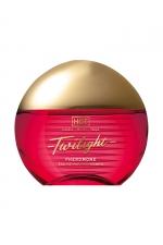 Parfum aux Phéromones Twilight Femme 15 ml - HOT : Parfum aphrodisiaque pour femme à base de phéromones offrant un pouvoir attractif irrésistible. Flacon de 15ml.