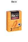 3 préservatifs Sico RIBBED